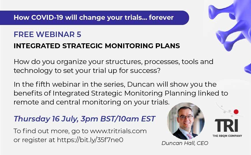 Free webinar - Integrated Strategic Monitoring Plans