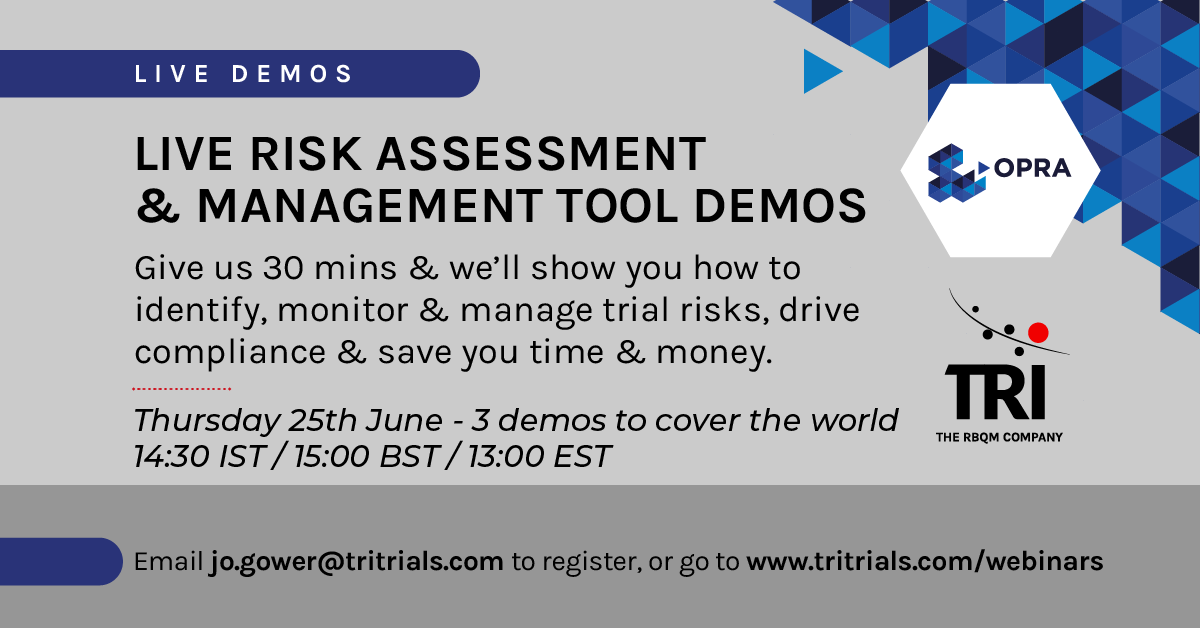 Live Risk Assessment & Management tool demos
