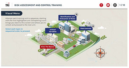 Visual Menu Map Navigation ICH E6 (R2) Clinical Trial Study Risk Assessment and Control e-learning training course Risk Based Monitoring Risk-Based Quality Management