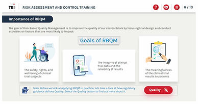 Importance of ICH E6 (R2) Clinical Trial Study Risk Assessment and Control e-learning training course Risk Based Monitoring Risk-Based Quality Management