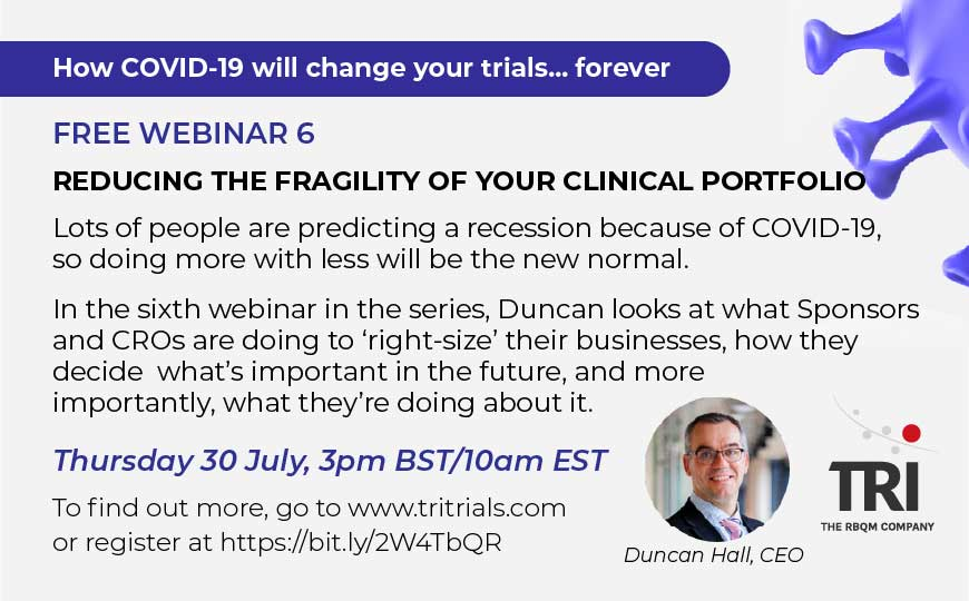 Free webinar - Reducing the fragility of your clinical portfolio