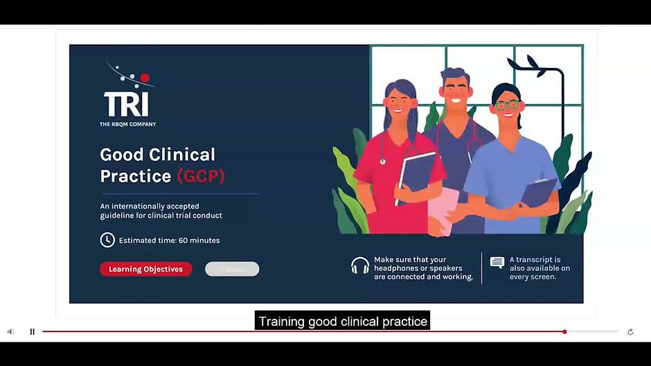 Short video of GCP e-learning module