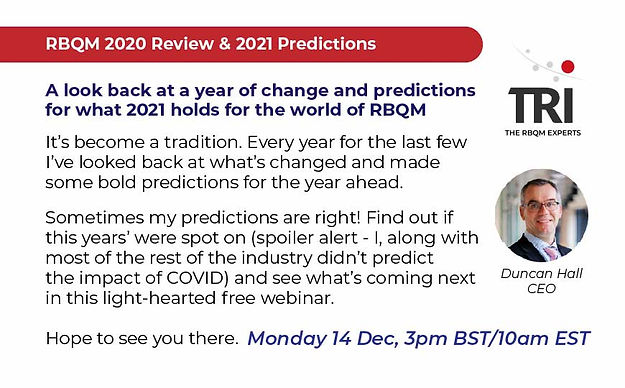 RBQM 2020 Peview and 2021 Predictions