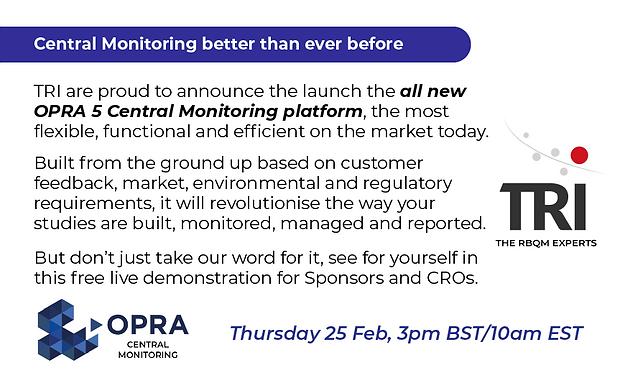 OPRA 5 - Central Monitoring demo - 25 Feb