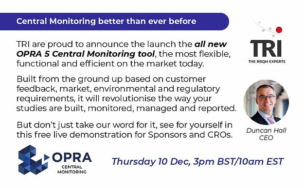 All new OPRA 5 Central Monitoring demo - 10 Dec