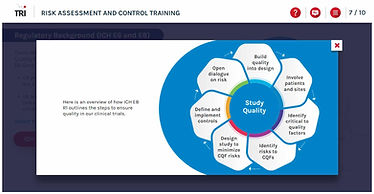 Study Quality ICH E6 (R2) Clinical Trial Study Risk Assessment and Control e-learning training course Risk Based Monitoring Risk-Based Quality Management
