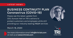 TRI Coronavirus Statement