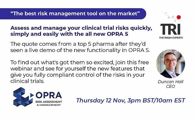 All new OPRA 5 Risk Assessment & Management Demo - 12 Nov