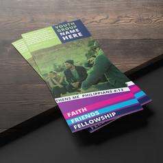 Student Ministry Brochure Design Mockup