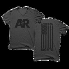 American Rights Flag Rifle Shirt Design