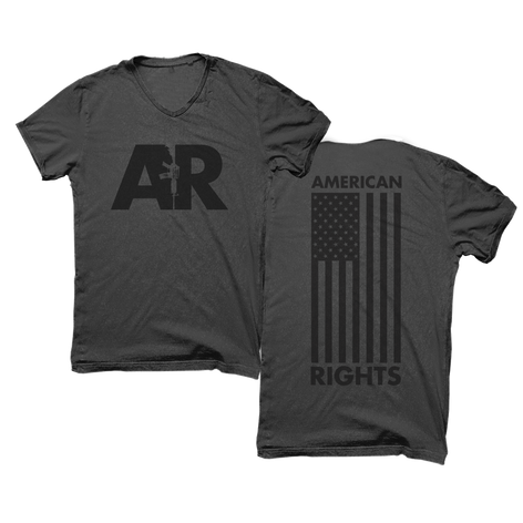 American Rights Flag Rifle Shirt Design