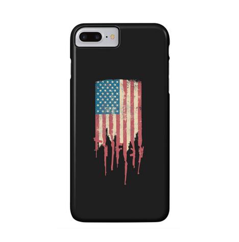 Distrress American Flag USA phone case Made of Guns and Rifles