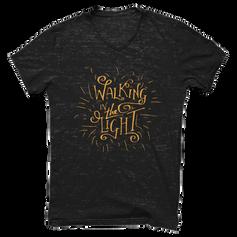Walking in the Light Lettering SHirt