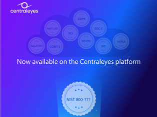 Centraleyes Expands its Framework Library With NIST 800-171