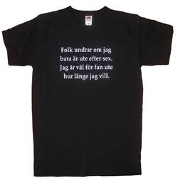 T-Shirt Folk Undrar Om Jag Bara