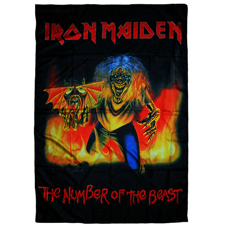 Posterflagga Iron Maiden - The Number Of The Beast