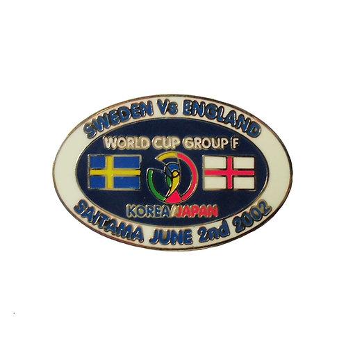 Badge World Cup 2002 Sweden - England