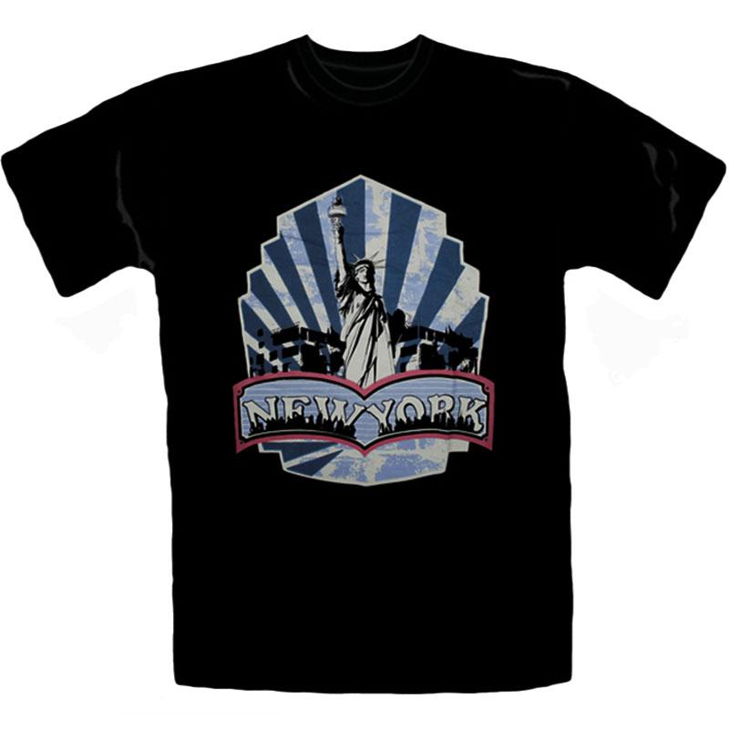 T-Shirt New York Svart