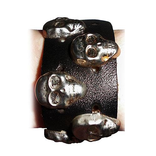 Bracelet With Skull Rivets - 2 Radish