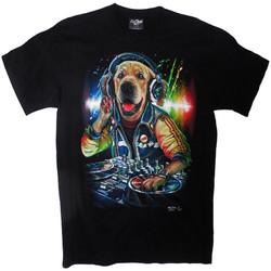T-Shirt Discjockey Dog