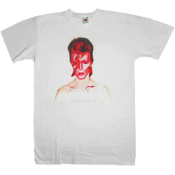 T-Shirt David Bowie Aladdinsane Vit