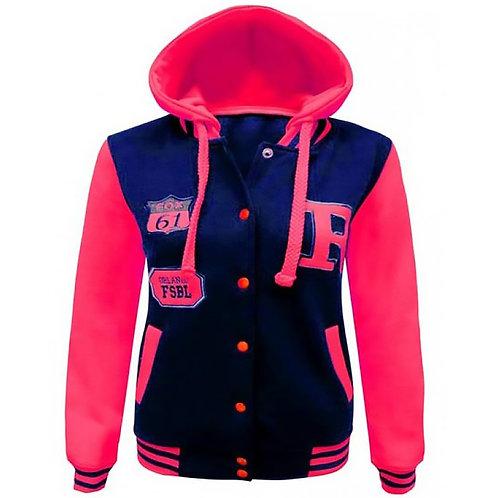 Fluorescent Versace Hoodie Jacket-Girl / Ladies
