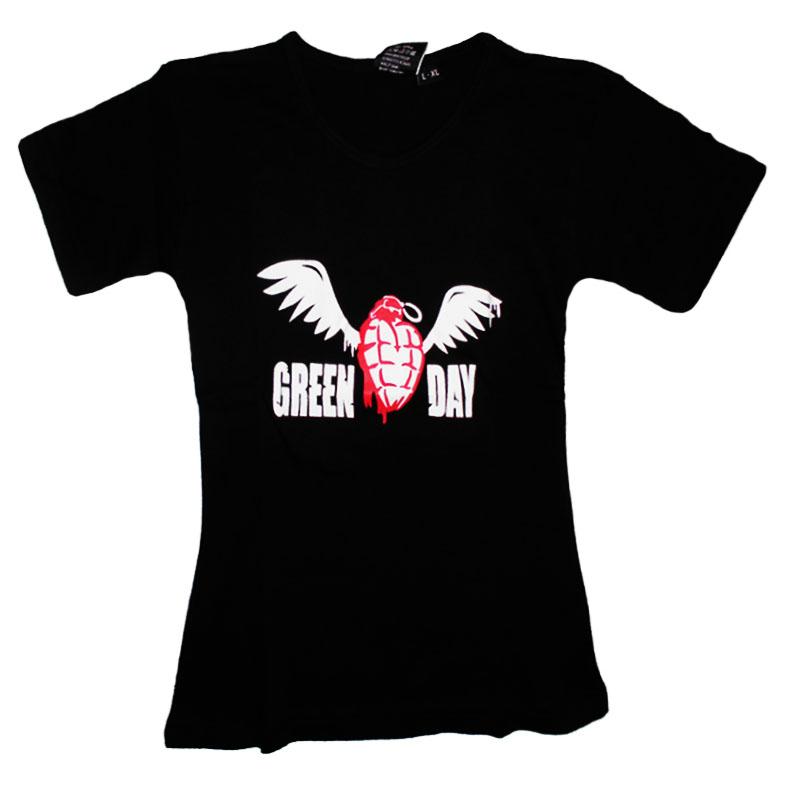 Tjej T-Shirt Green Day