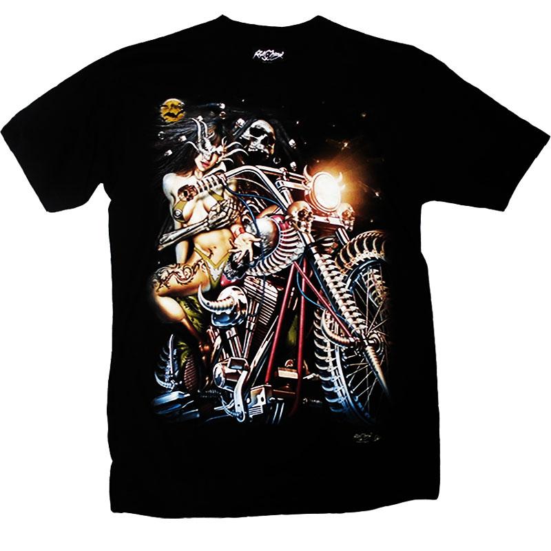 T-Shirt Girl On Motorcycle