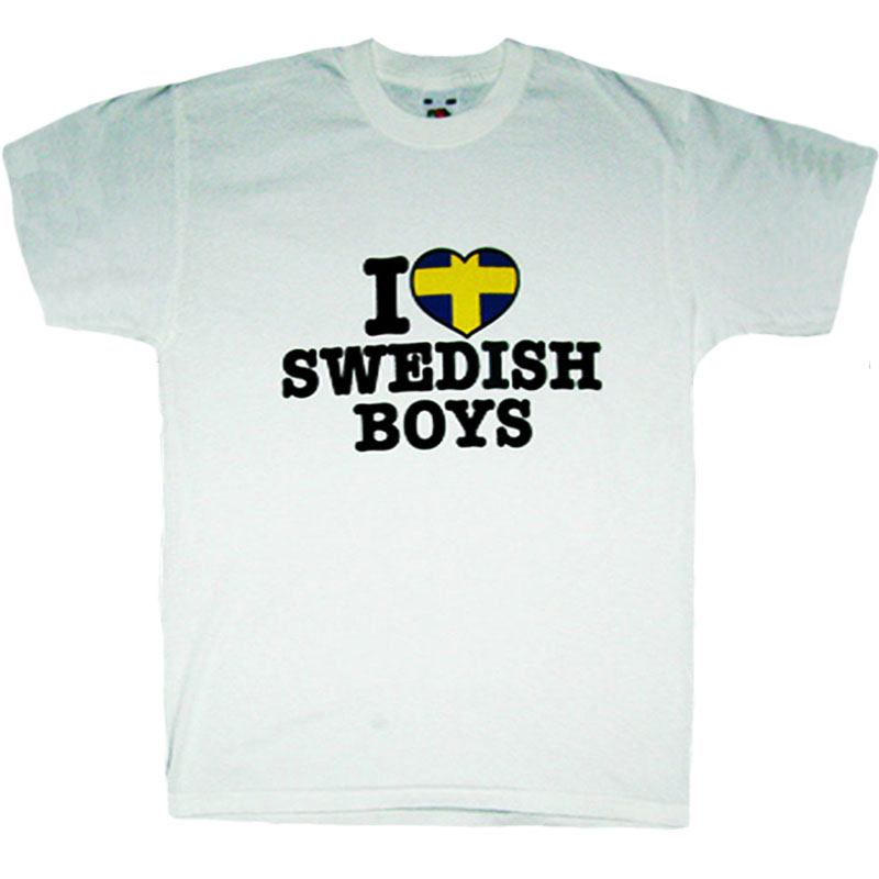 T-Shirt I Love Swedish Boys