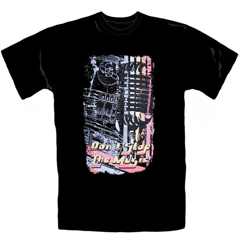 T-Shirt_Don´t_Stop_The_Music_Svart