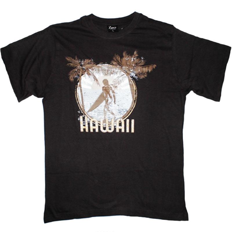 T-Shirt Hawaii Mörkgrå