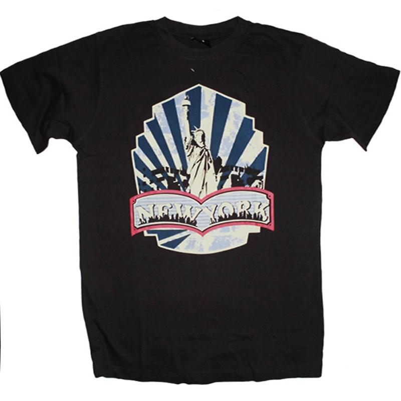 T-Shirt New York Mörkgrå