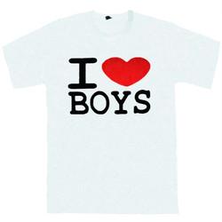 T-Shirt I Love Boys 2