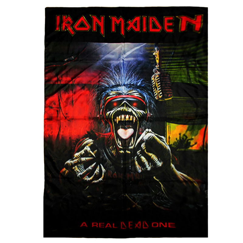 Posterflagga Iron Maiden - A Real Dead One