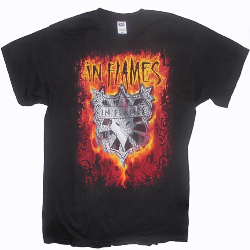 T-Shirt In Flames Shield Flames Fram
