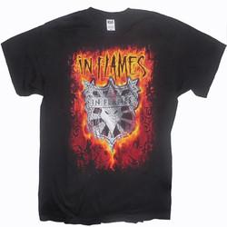 T-Shirt In Flames Shield Flames Fram
