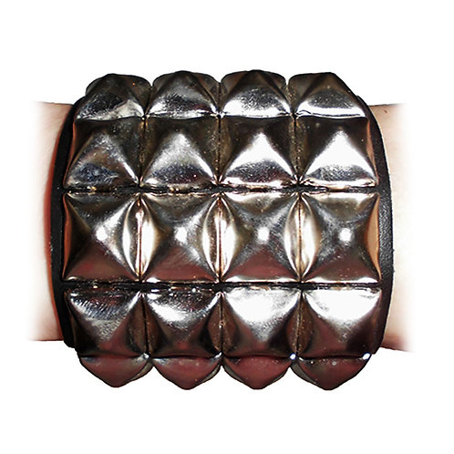 Bracelet With Pyramid Rivets 4-row