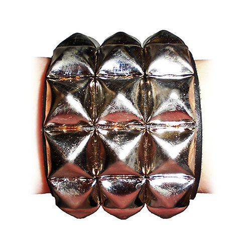 Bracelet With Pyramid Rivets 3-Row