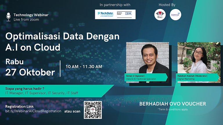 Webinar :  Optimisasi Data Dengan AI on Cloud