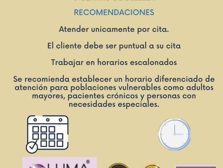 RECOMENDACIONES CENTROS DE TRABAJO  PARA PROFESIONALES EN #PESTAÑAS Y #CEJAS COVID-19