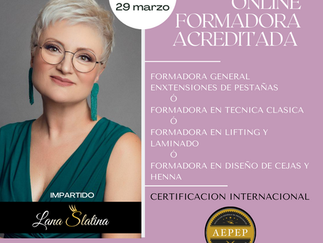 Curso de Entrenadora Certificada AEPEP, mes de Marzo
