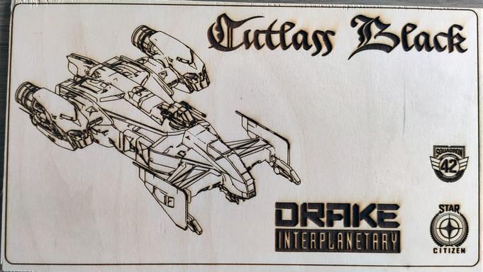 Drake Cutlass Etching