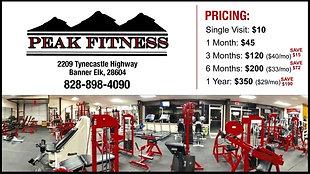 Peak Fitness- Day Pass/Guest Pass
