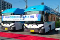 제천시, 친환경 전기저상시내버스 운행 시작