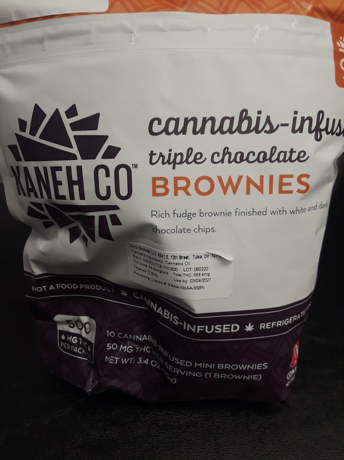 Kaneh Co. 500mg Triple Chocolate brownies
