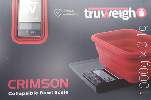 Crimson Collapsible Bowl Scale