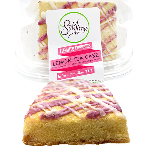 Sublime Lemon Tea Cake 50mg