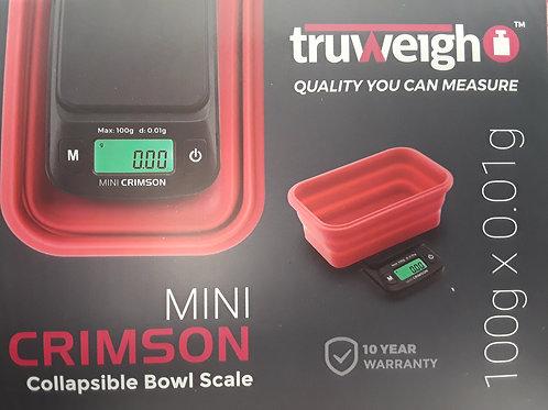 Mini Crimson Collapsible Bowl Scale