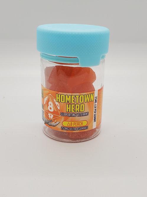 D8 Peach Gummies
