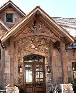 Front door with Custom timbers